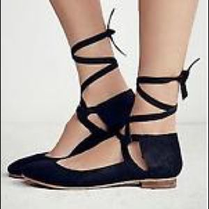 Free People Lace-Up Flats
